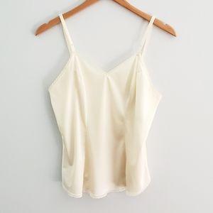 Vanity Fair cream camisole lace trim size 36/42